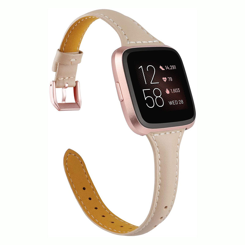 TOYOUTHS Leather Strap Fitbit Versa/Versa 2 Bands Women Men Slim