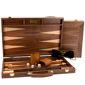 Backgammon - 38cm Walnut by Dal Rossi