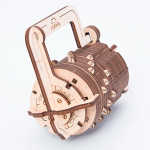 UGears Combination Lock Mechanical Model