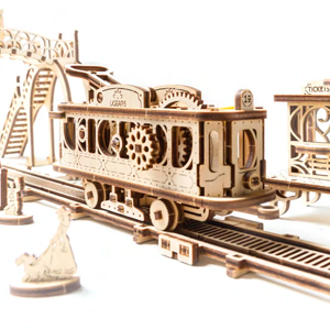 UGears Tram Line  Mechanical Model
