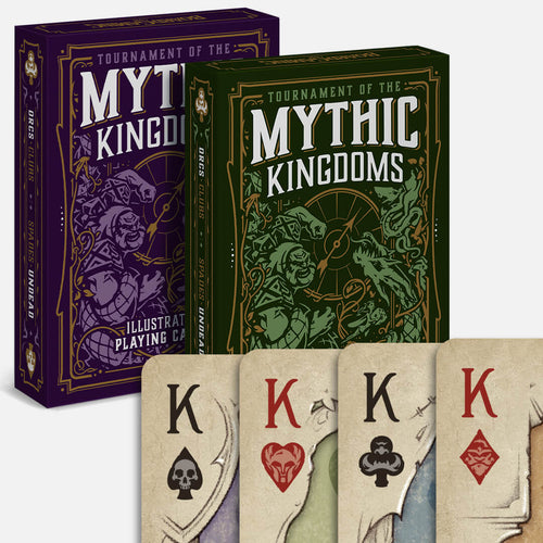 Standard Set of TMK Playing Cards - Purple and Green Decks - Red/Black Indices