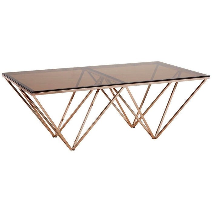 Abisha Coffee Table Champagne Gold Home Furniture