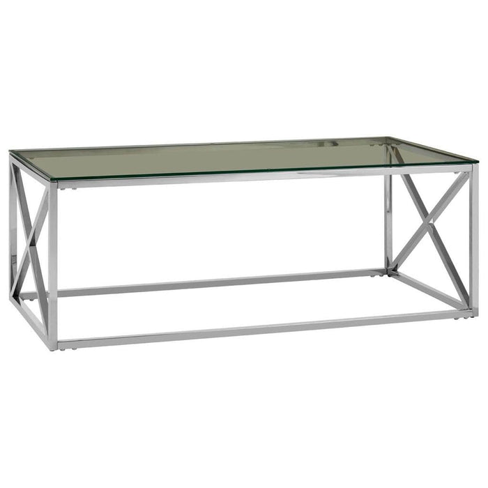 Adonis Rectangular Coffee Table Silver Home Furniture