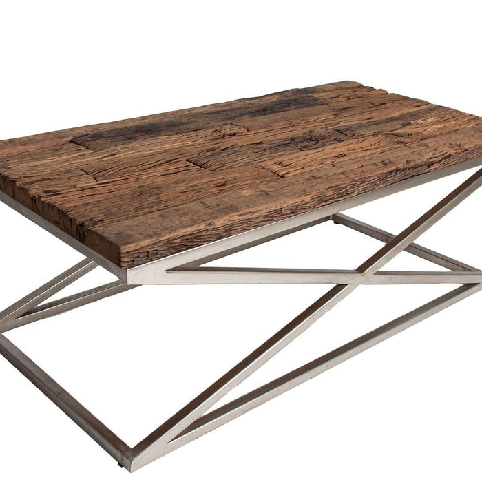 Allan 120cm Gorgeous Wooden Top Coffee Table