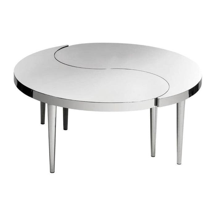 Alvis Ying Yang Coffee Table Silver Home Furniture