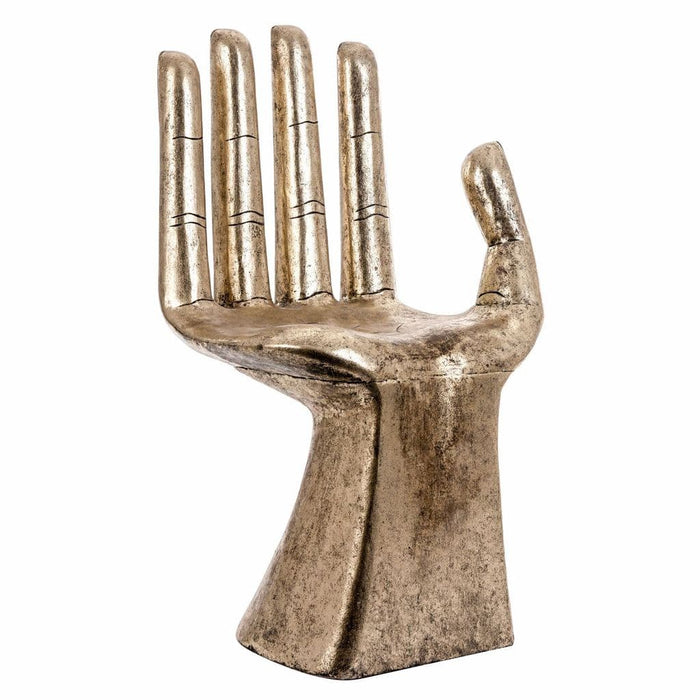 Andy Gold Distressed Hand Shaped Dining Chair