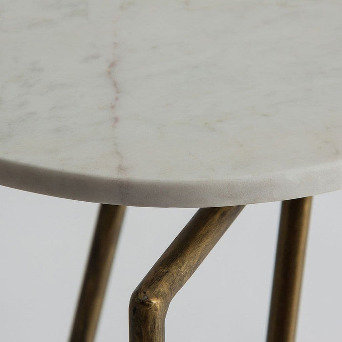 articus White Marble And Gold Console Table