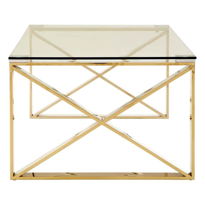 Astar Coffee Table Champagne Gold Home Furniture