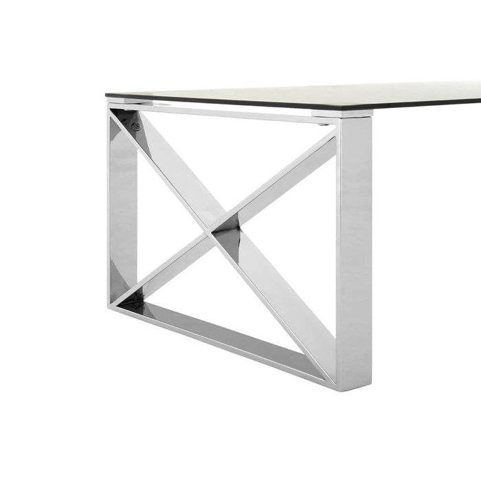 Astar Coffee Table Silver Finish Home Furniture