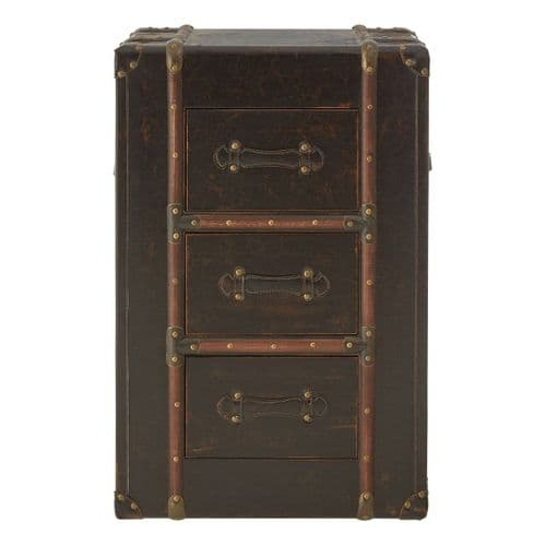 Bryant 3-Drawer Chest Brown Bedroom Furniture