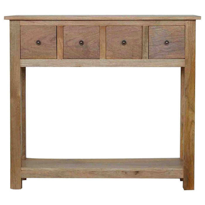 Carlos 4-Drawer Console Table Oak Home Furniture