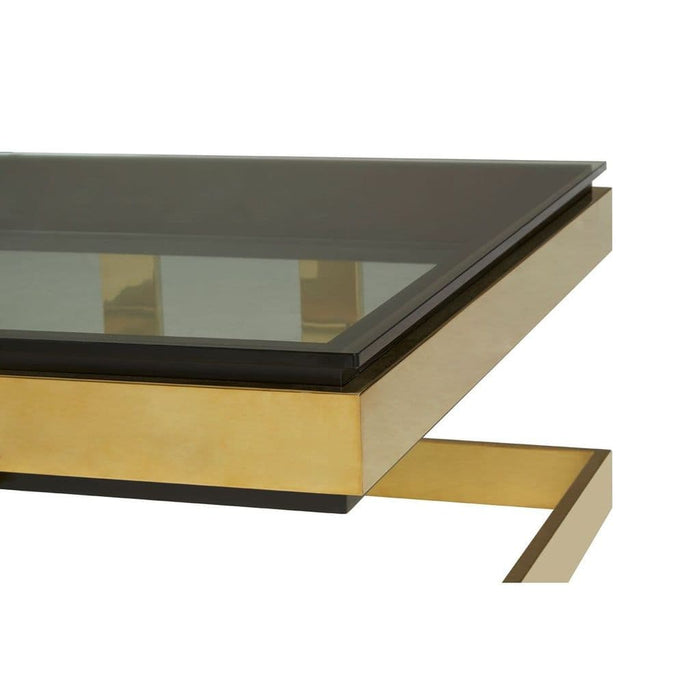 Dustin Square Coffee Table Black Home Furniture