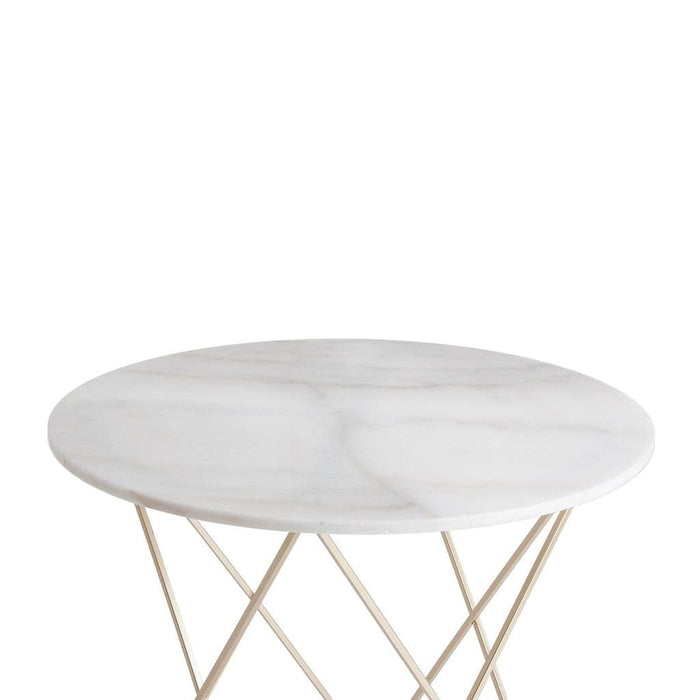 Eton 79cm Small Round Art Deco Dining Table