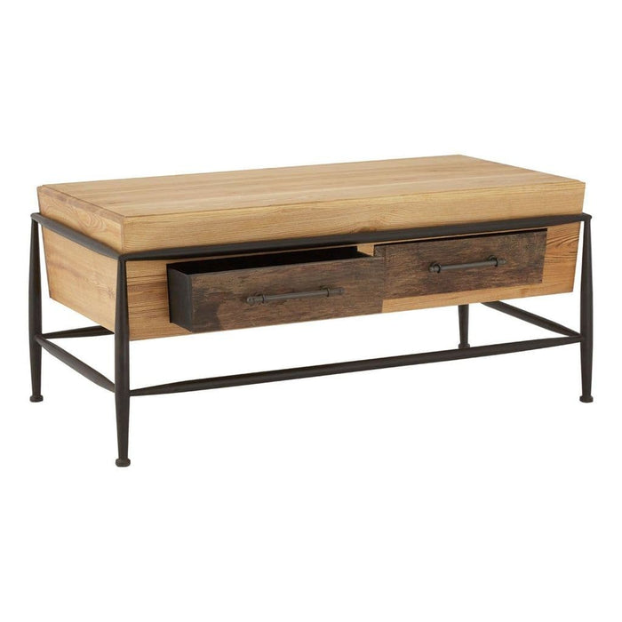 Fallon Rectangular Coffee Table Brown Home Furniture