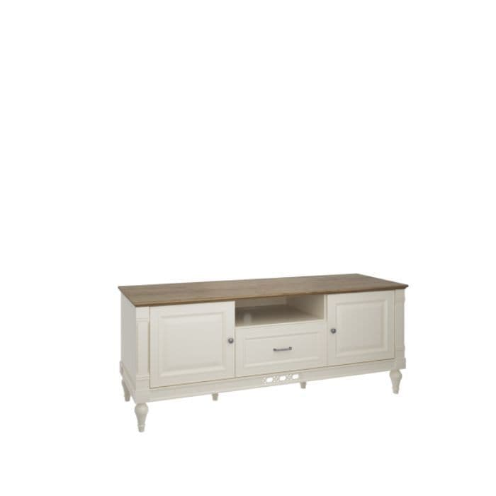 Flora 162cm Vanilla Cream And Oak TV Stand