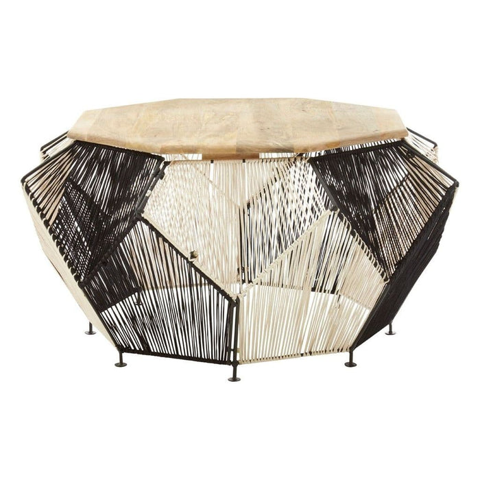 Francis Octagonal Coffee Table Black Home Furniture