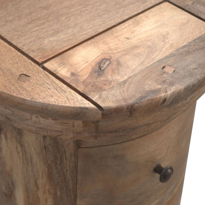 Gallant Slim Drum Chest Oak Finish Home Furniture