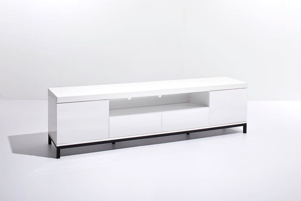 Grenada 190cm White Gloss TV Stand
