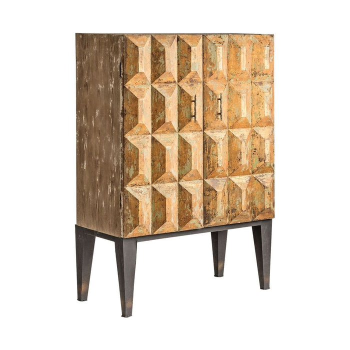 Grizelda Gold Distressed Gold Highboard
