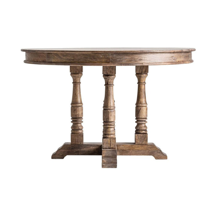 Gunther 122cm Round Solid Wood Dining Table