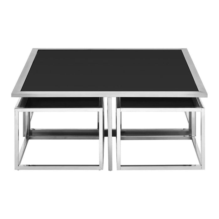 Hector Coffee Table with Stools Black Home Furniture