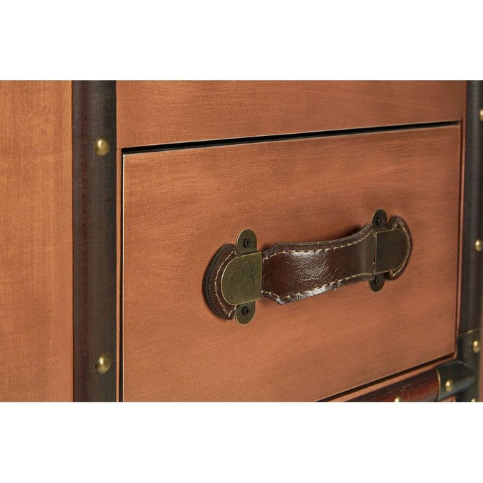 Helmsman Drawer Chest Copper Finish Bedroom Furniture