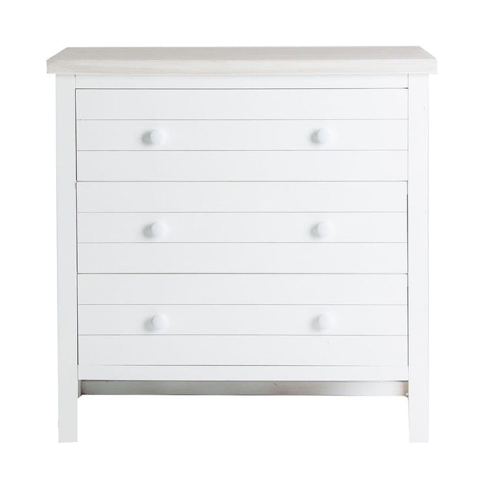 Ladar White Wooden Chest Of Drawers
