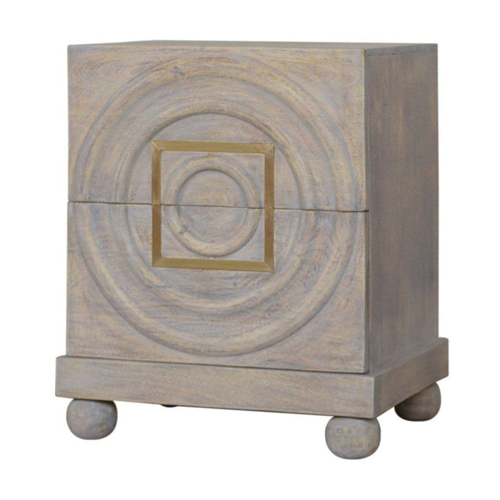 Lanceberg Wooden Bedside Table Pale Wash Home Furniture
