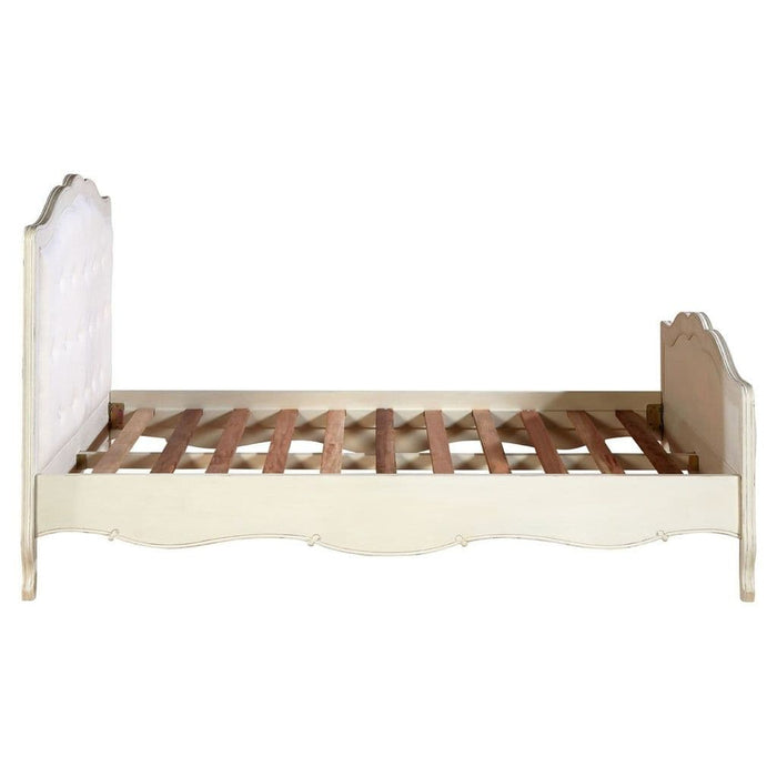 Leroy Double Bed White Finish Bedroom Furniture