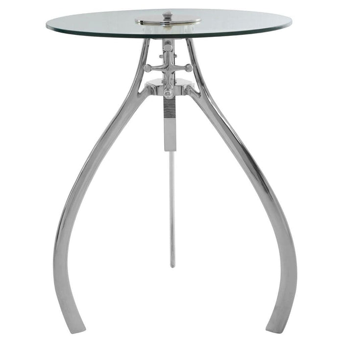 Maize Adjustable Table Silver Home Furniture