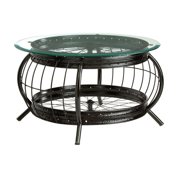 Marcia Small Round Table Black Home Furniture