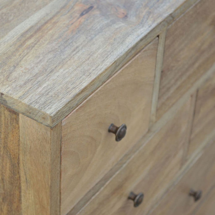 Nastob 9-Drawer Chest Oak Finish Bedroom Furniture