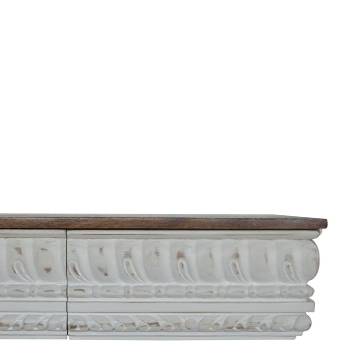 Pinozza Rectangular Console Table White Home Furniture