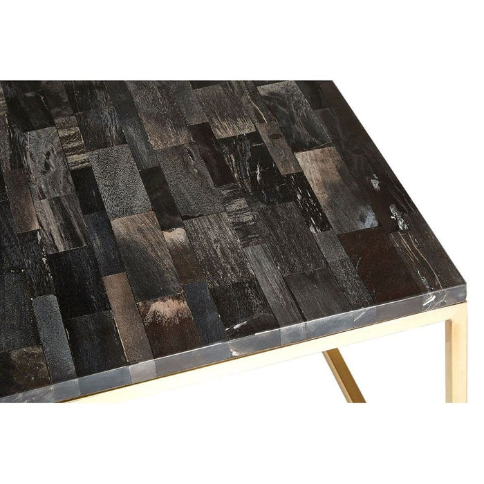 Raven Square Coffee Table Brass Home Furniture