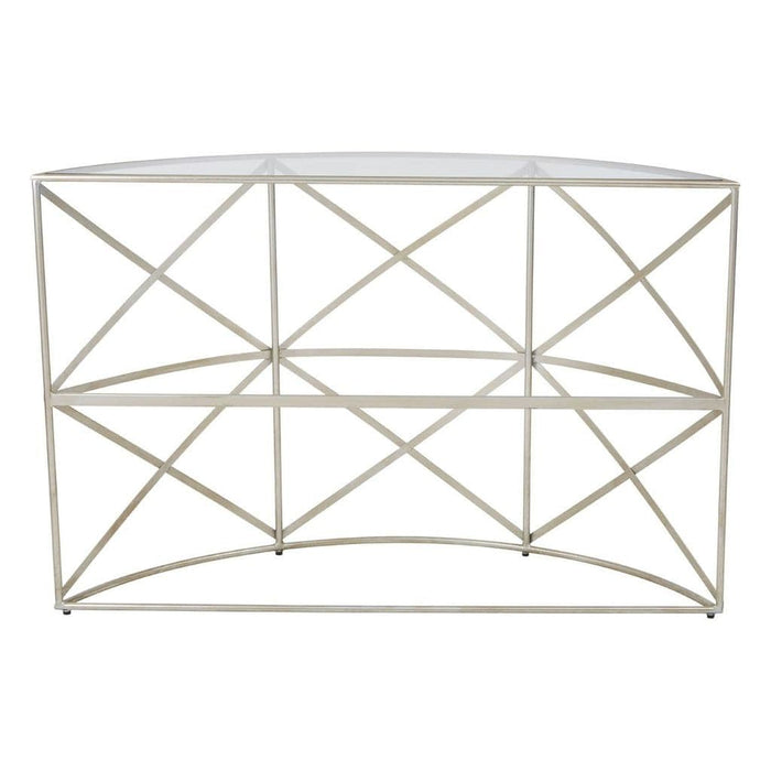 Relay Demilune Console Table Silver Home Furniture