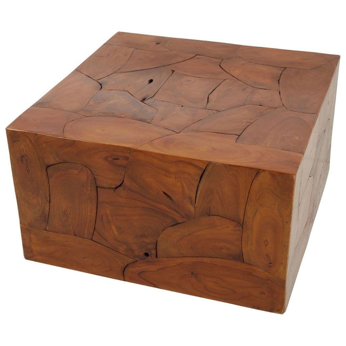 Saul Cuboid Coffee Table Brown Home Furniture