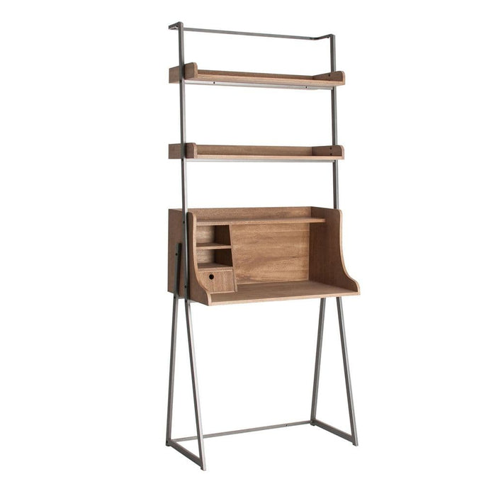 Vernon 82cm Slim Wooden Bookcase With Cupboard