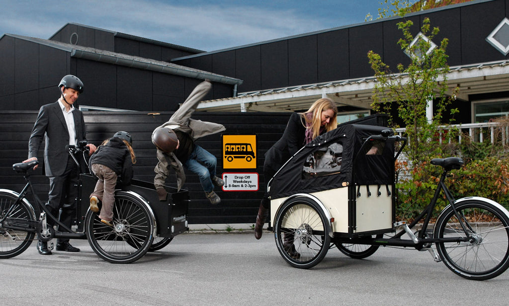 Christiania bicycle trailer for kids