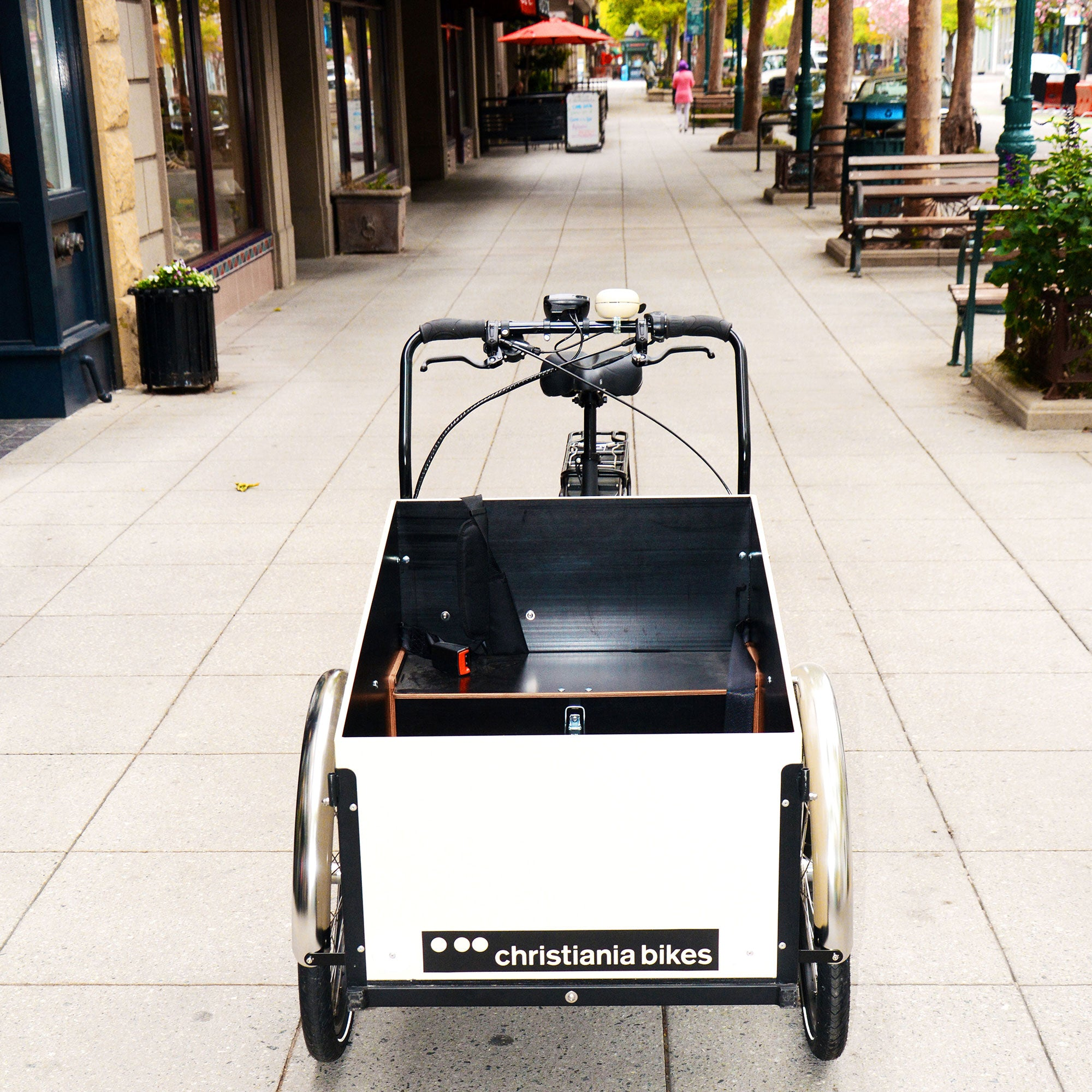 Model Light Cargo Bike with rearDrive Electric Assist (Sloped box)- Cream
