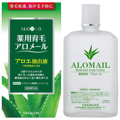 Yanagiya Hair Grower for Scalp - Medicated Hair Growth Alomail 240ml