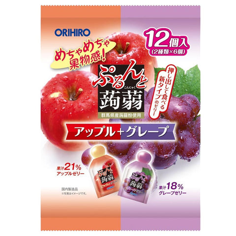 Orihiro Purudo Jelly - Apple + Grape 20g x 12 pouches