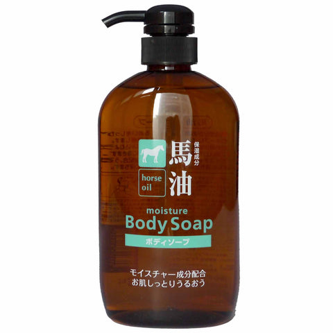 Kumano Horse Oil Body Soap Bottle 600ml