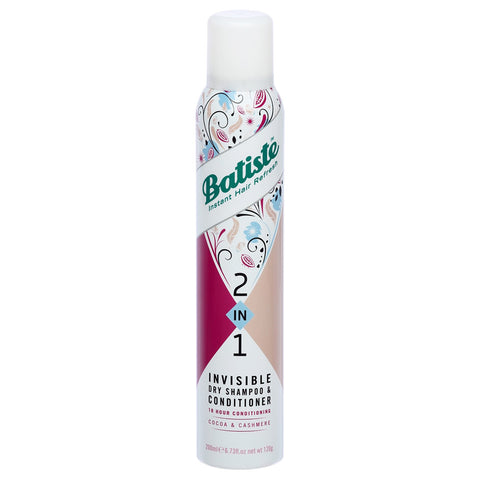 Batiste 2 in 1 Invisible Dry Shampoo and Conditioner 200ml - Cocoa and Cashmere