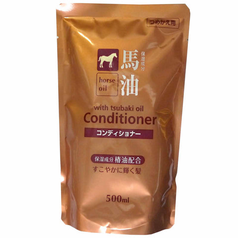 Kumano Horse Oil Conditioner Refill 500ml
