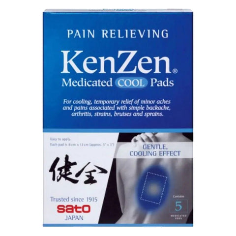 Sato KenZen Medicated Cool Pads 5 pads