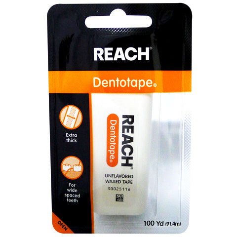 Reach Dentotape Unflavored Waxed Tape 91.4m