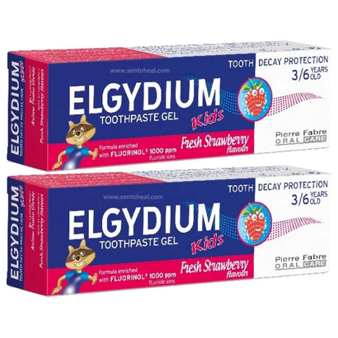 Elgydium Kids (3-6 Years Old) - Fresh Strawberry 2 x 50ml
