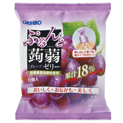 Orihiro Purudo Jelly - Grape 20g x 6 pouches