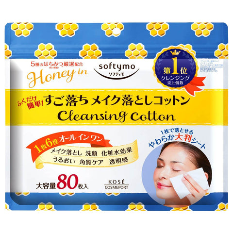 Kose Softymo Honey In Cleansing Cotton 80 sheets