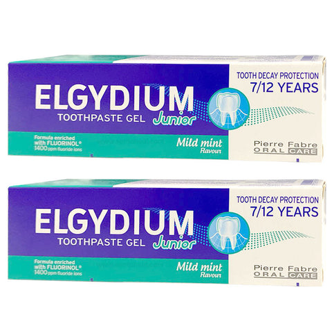Elgydium Junior (7-12 Years Old) - Mild Mint 2 x 50ml